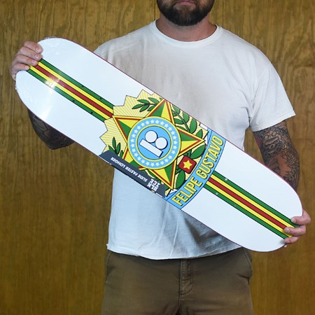 Plan B Felipe Gustavo Seal Black Ice Deck White