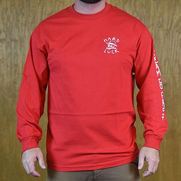 Hard Luck Mfg OG Logo Long Sleeve T Shirt Red