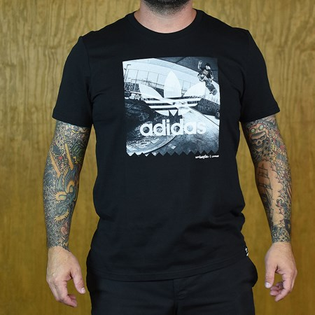 adidas London Photo T Shirt Black