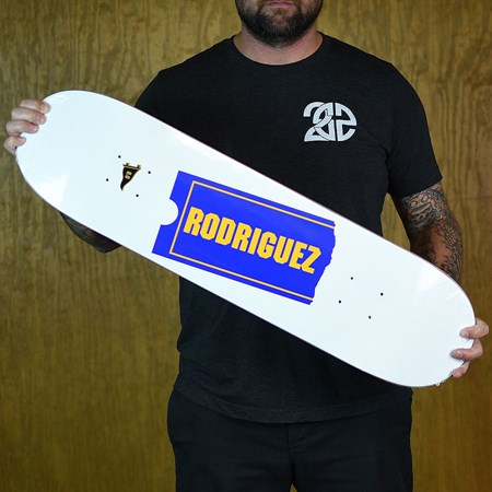 Primitive Paul Rodriguez Late Fee Deck White in stock now.