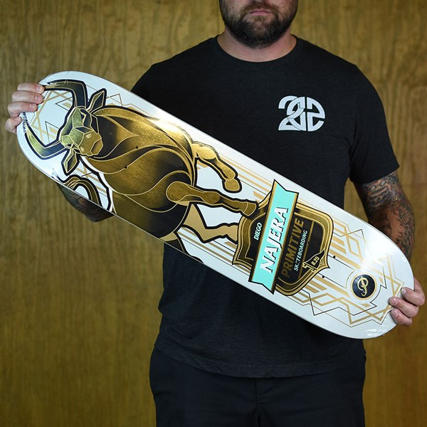 Primitive Diego Najera Bull Deck White, Gold