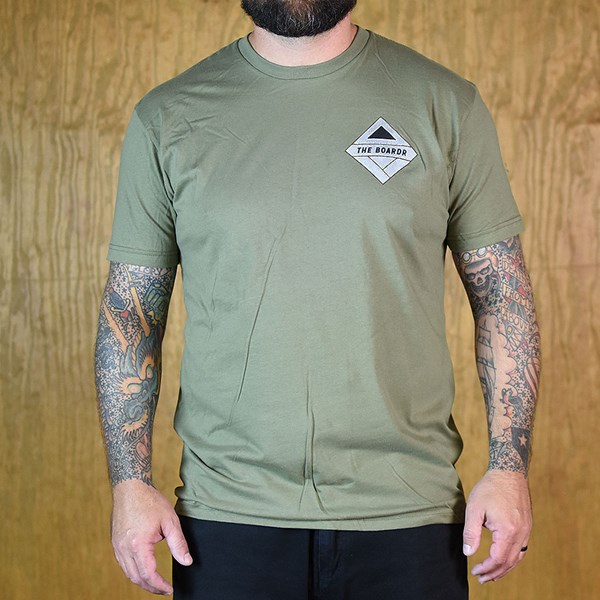 The Boardr Gunner T Shirt Army Green