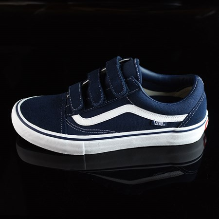 Size 10.5 in Vans Old Skool V Pro Shoes, Color: Navy, White