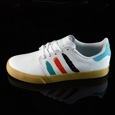 Size 9 in adidas Seeley Court Shoes, Color: Running White, Energy Blue