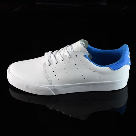 Size 10.5 in adidas Seeley Court Shoes, Color: Running White, White, Pool