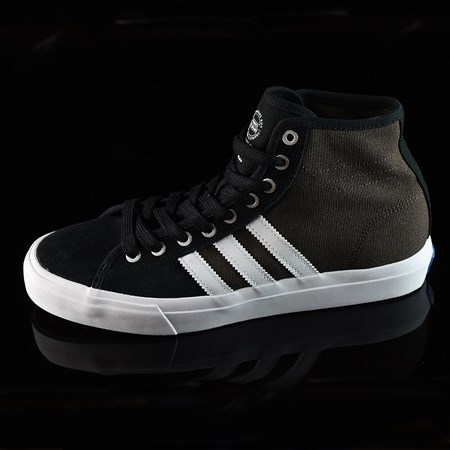 Size 10.5 in adidas Matchcourt High RX Shoes, Color: Black, Brown, White