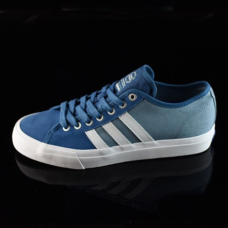 Size 8 in adidas Matchcourt Low RX Shoes, Color: Core Blue, White, Tactical Blue