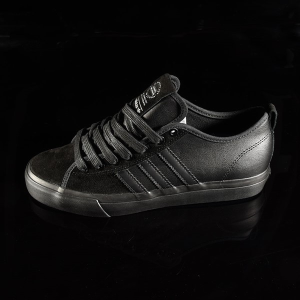 adidas Matchcourt Low RX Shoes Marc Johnson, Black, Black, Metallic Silver