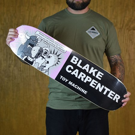 Toy Machine Blake Carpenter Tracts Deck Black in stock now.