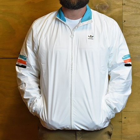 adidas Courtside Spec Track Jacket White in stock now.