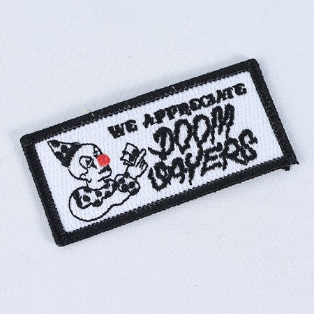 Doom Sayers We Appreciate Patch Black, White