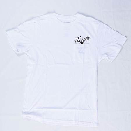 Doom Sayers Felix Censored Pocket T Shirt White in stock now.