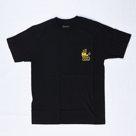 Doom Sayers Doom Wood Pocket T Shirt Black