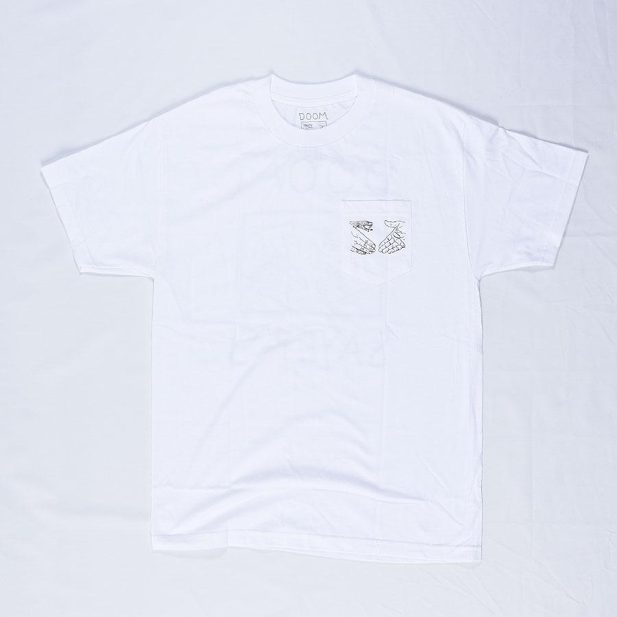 White T Shirts Snake Shake Pocket T Shirt in Stock Now