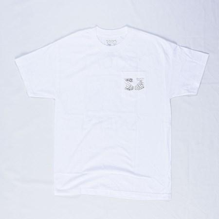 Doom Sayers Snake Shake Pocket T Shirt White