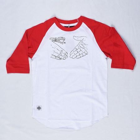 Doom Sayers Knowledge X DSC Raglan T Shirt Red, White