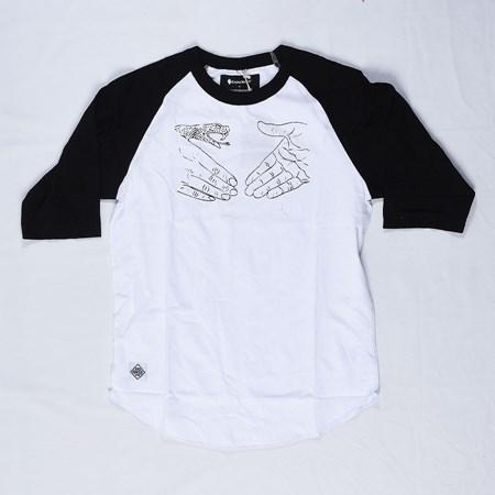 Doom Sayers Knowledge X DSC Raglan T Shirt Black, White in stock now.