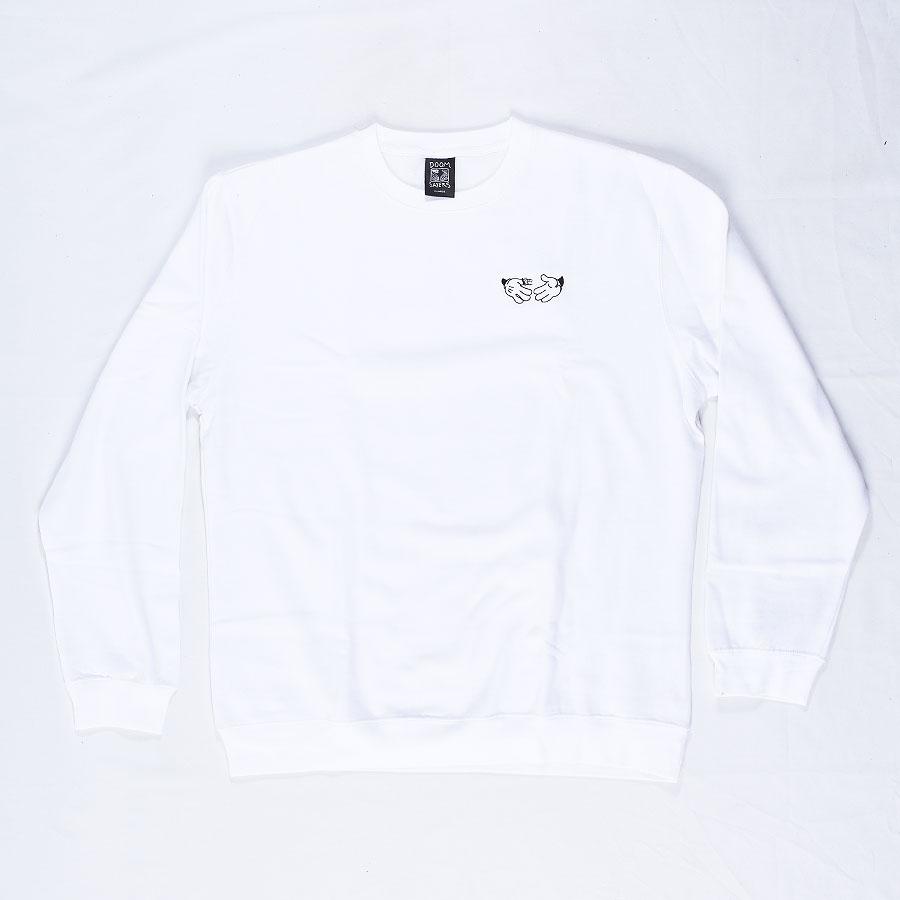 White Hoodies and Sweaters Cartoon Crew Neck Sweatshirt in Stock Now