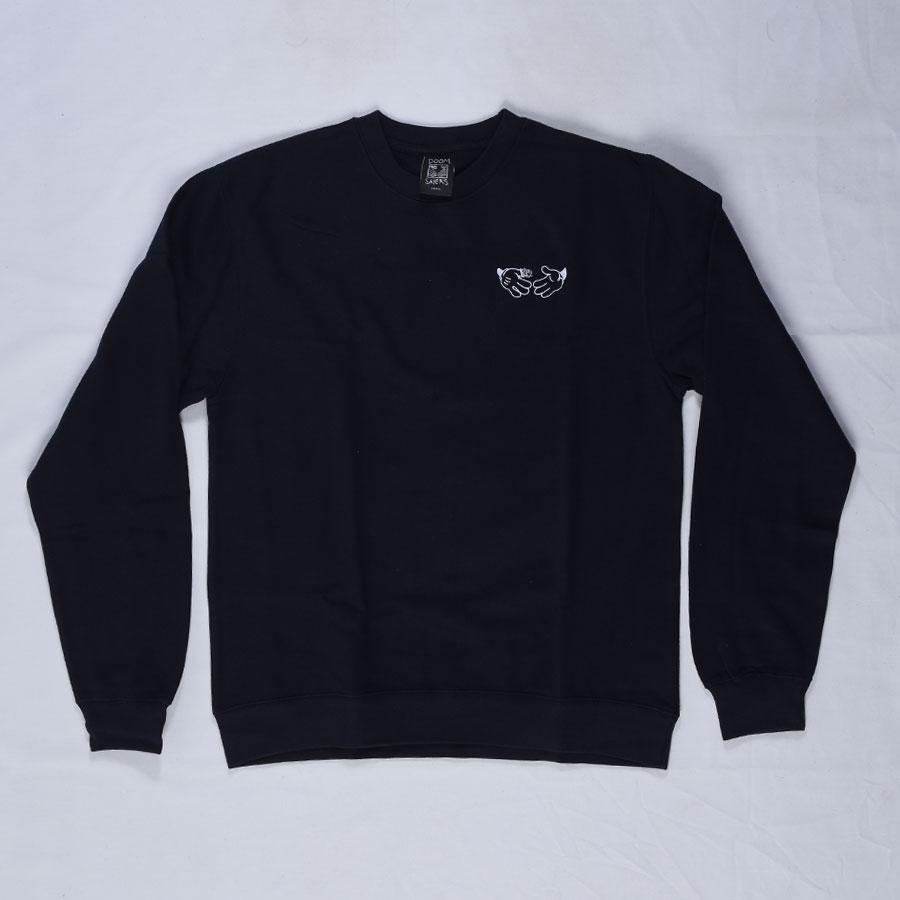 Navy Hoodies and Sweaters Cartoon Crew Neck Sweatshirt in Stock Now