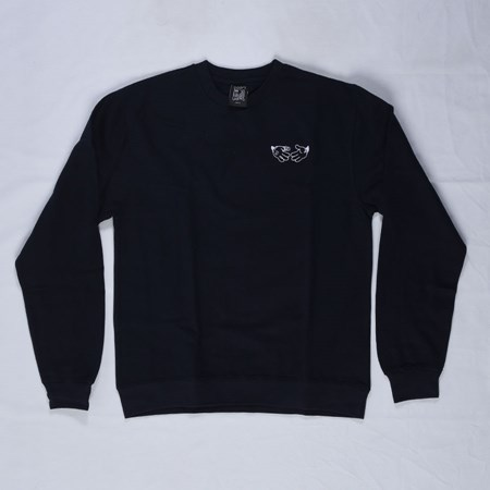 Doom Sayers Cartoon Crew Neck Sweatshirt Navy