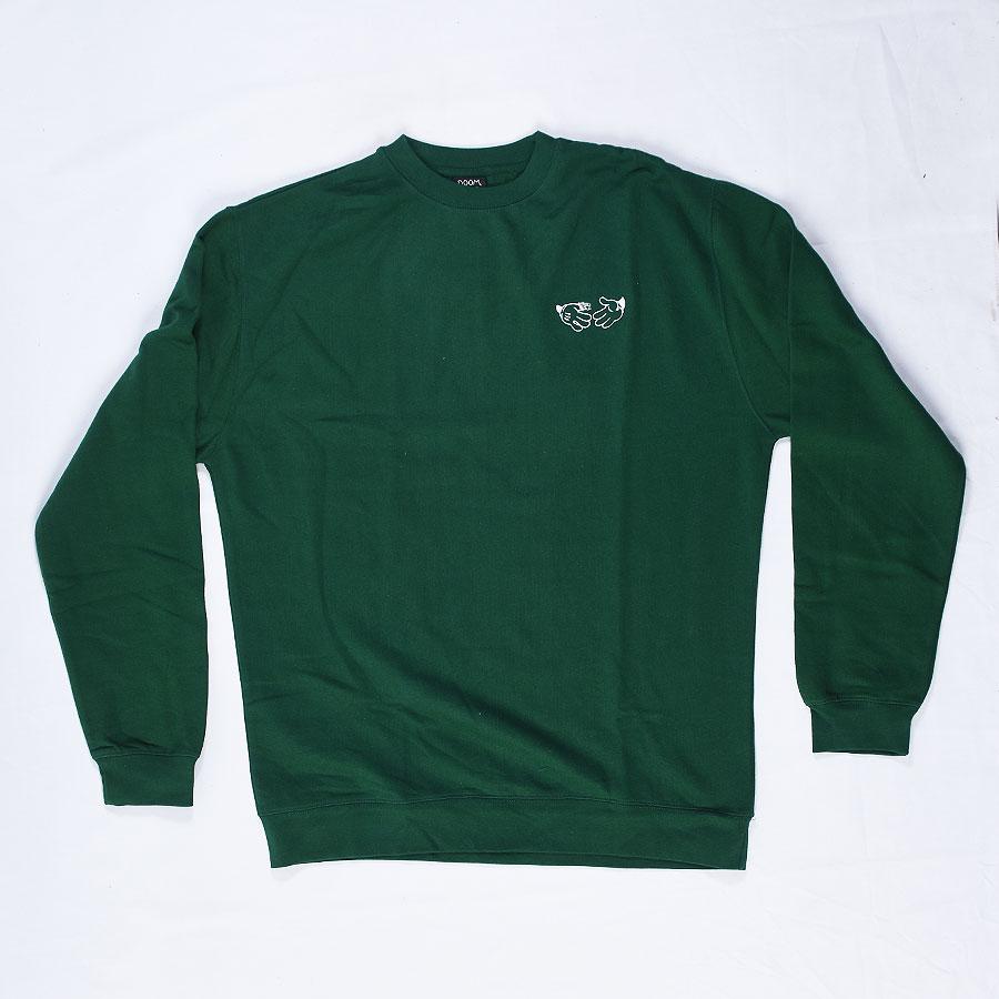 Green Hoodies and Sweaters Cartoon Crew Neck Sweatshirt in Stock Now