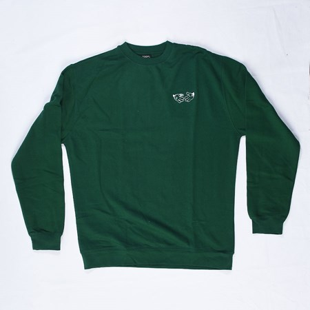 Doom Sayers Cartoon Crew Neck Sweatshirt Green