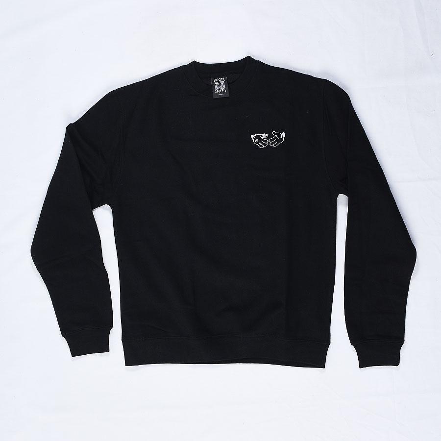 Black Hoodies and Sweaters Cartoon Crew Neck Sweatshirt in Stock Now