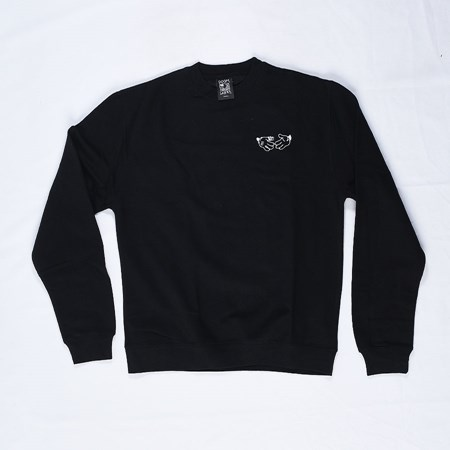 Doom Sayers Cartoon Crew Neck Sweatshirt Black