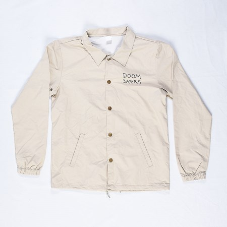 Doom Sayers Cartoon Coaches Jacket Khaki