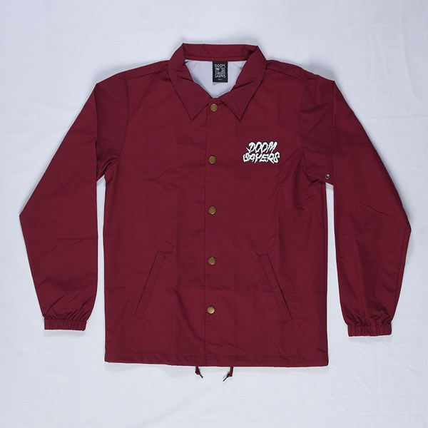 Doom Sayers Ghost Face Coaches Jacket Maroon