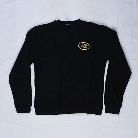 Doom Sayers Sacto Script Crew Neck Sweatshirt Black