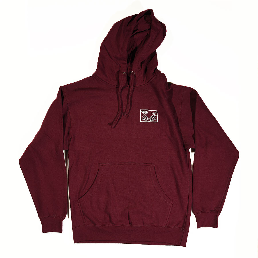 Burgundy Hoodies and Sweaters Snake Shake Hoodie in Stock Now