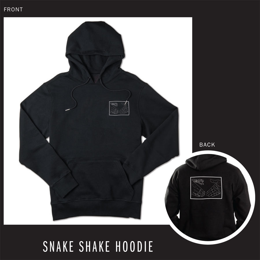 Black, Yellow Hoodies and Sweaters Snake Shake Hoodie in Stock Now