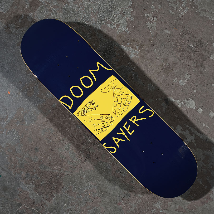 Navy, Yellow Decks Snake Shake Deck in Stock Now