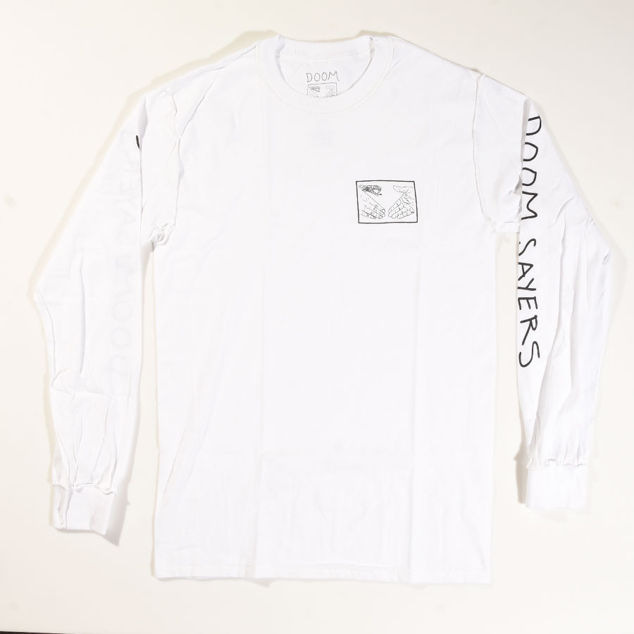 White T Shirts Inside Out Snake Shake Long Sleeve T Shirt in Stock Now