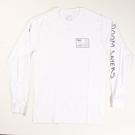 Doom Sayers Inside Out Snake Shake Long Sleeve T Shirt White