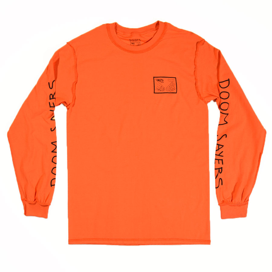 Orange T Shirts Inside Out Snake Shake Long Sleeve T Shirt in Stock Now