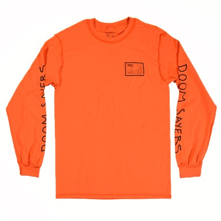Doom Sayers Inside Out Snake Shake Long Sleeve T Shirt Orange