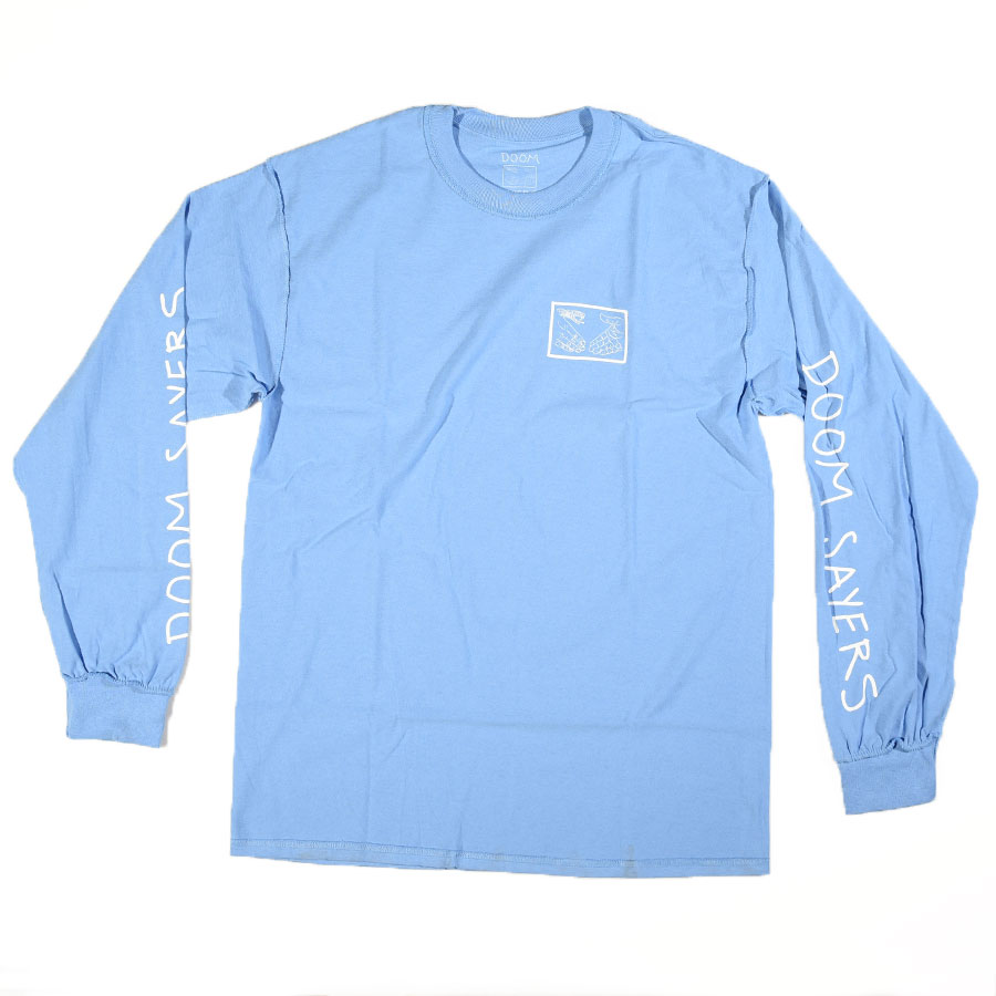 Light Blue T Shirts Inside Out Snake Shake Long Sleeve T Shirt in Stock Now