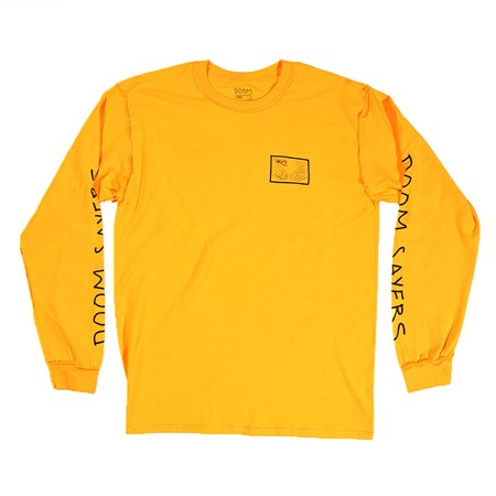 Doom Sayers Inside Out Snake Shake Long Sleeve T Shirt Yellow