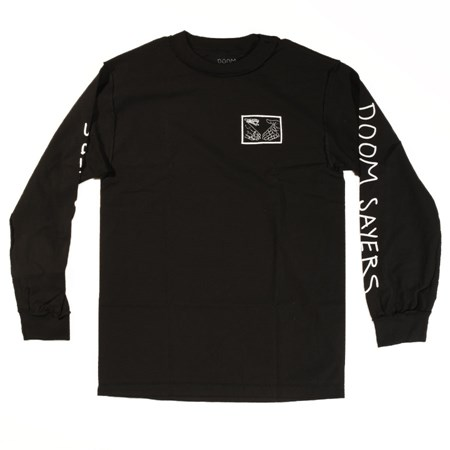 Doom Sayers Inside Out Snake Shake Long Sleeve T Shirt Black