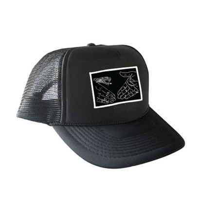 Doom Sayers Snake Shake Trucker Hat Black, White