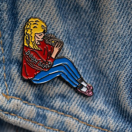 Doom Sayers Becky Pin Multi Colored in stock now.
