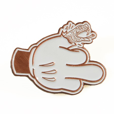 Doom Sayers Micky Finger Pin Copper, White