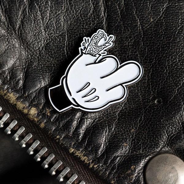 Doom Sayers Micky Finger Pin Black, White