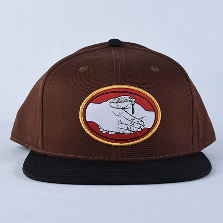 Doom Sayers Snake Bite Snap Back Hat Brown, Black