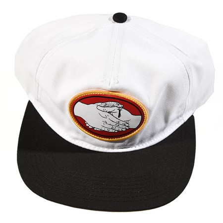 Doom Sayers Snake Bite Snap Back Hat White, Black