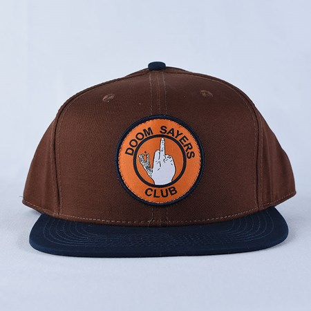 Doom Sayers Up Yours Snap Back Hat Brown, Navy