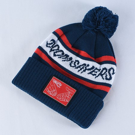 Doom Sayers DSC Pom Beanie Navy, White, Red