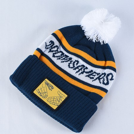 Doom Sayers DSC Pom Beanie Navy, White, Yellow